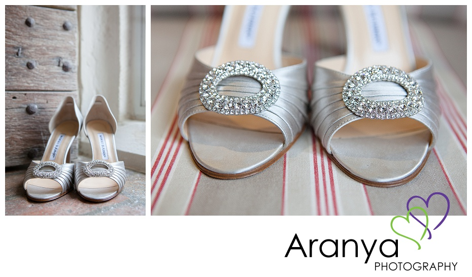 Manolo Blahnik wedding shoes photo