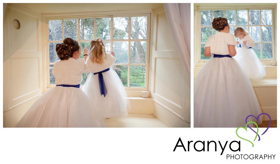 Bridesmaids at the window
