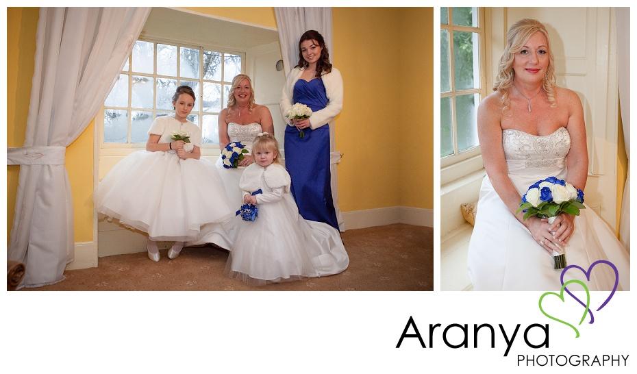 Bride and bridesmaids at Salmestone Grange