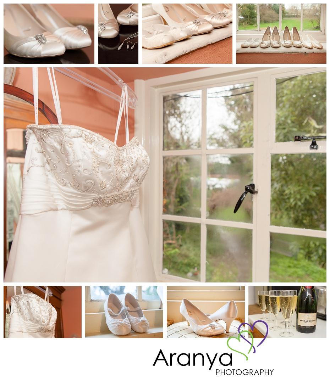 Wedding dress details at Salmestone Grange wedding