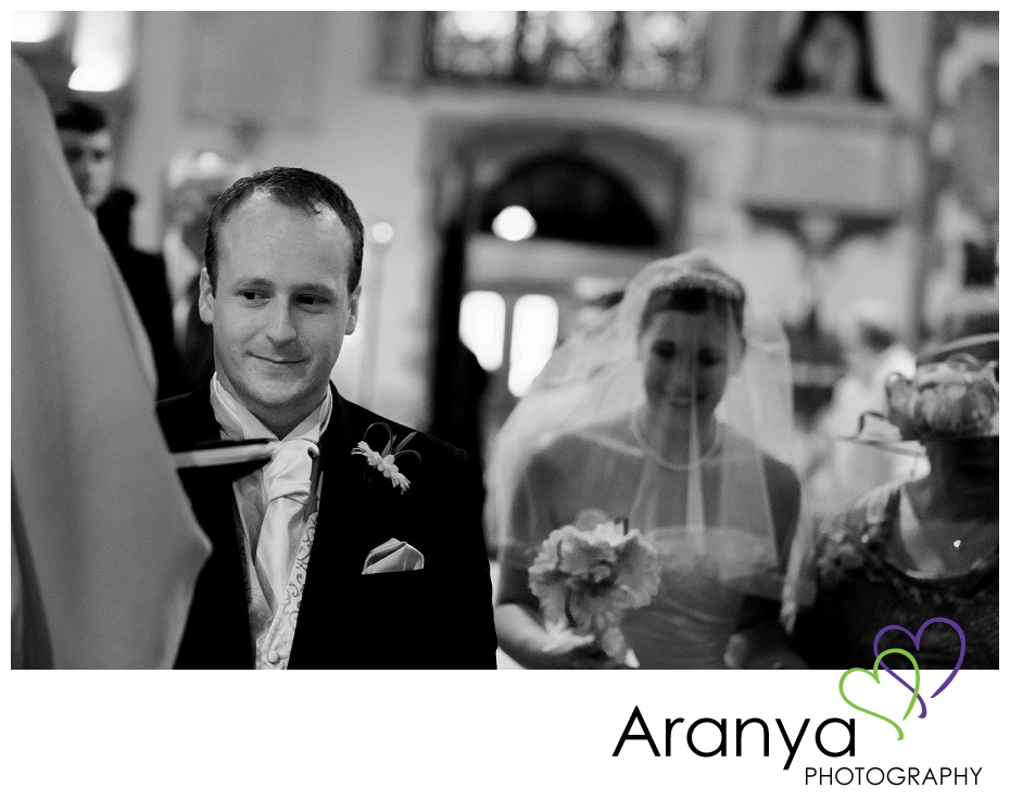 Bride and groom at St Peters Church