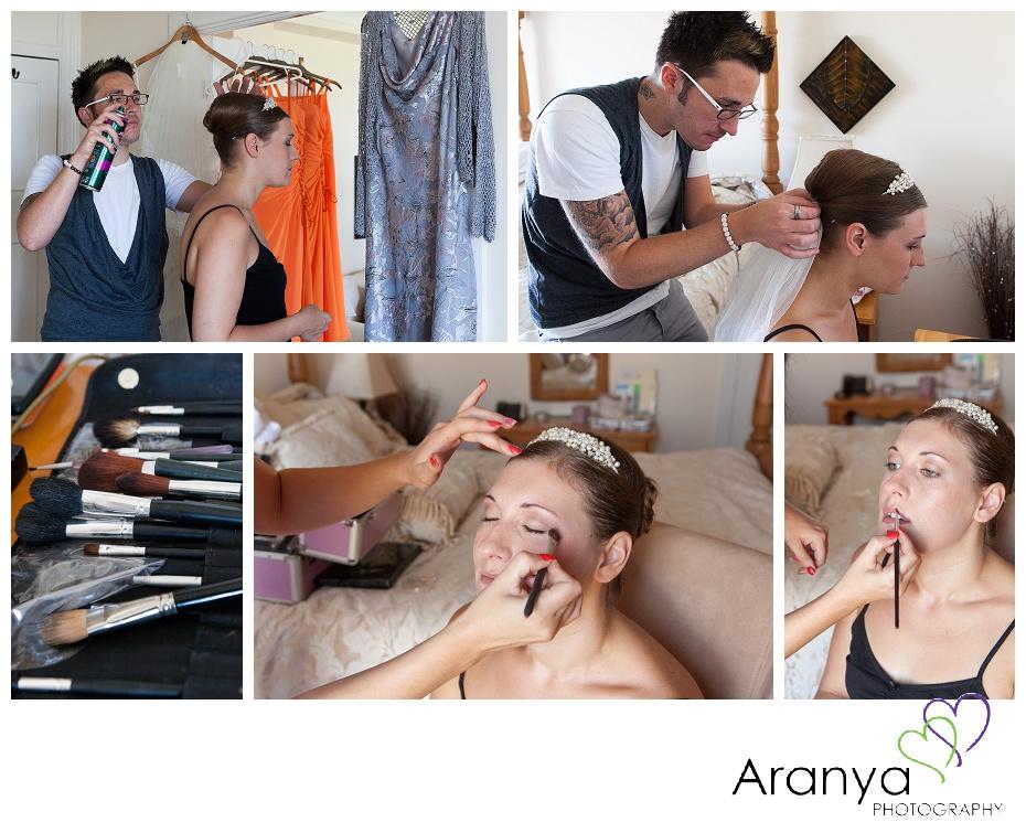 Bridal preparation at the Walpole Bay hotel