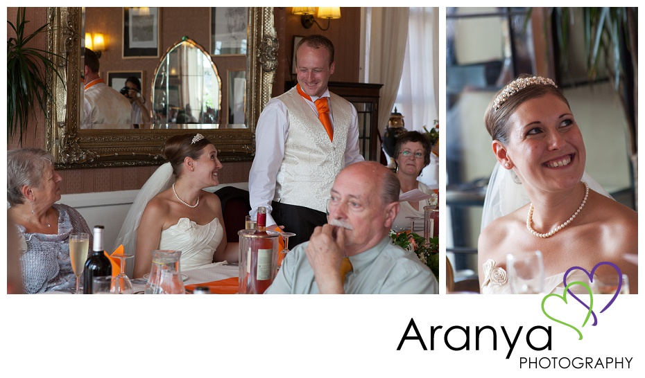 Wedding speeches at Walpole Bay hotel wedding