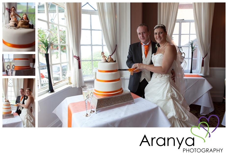 Cake cutting at Walpole Bay hotel wedding