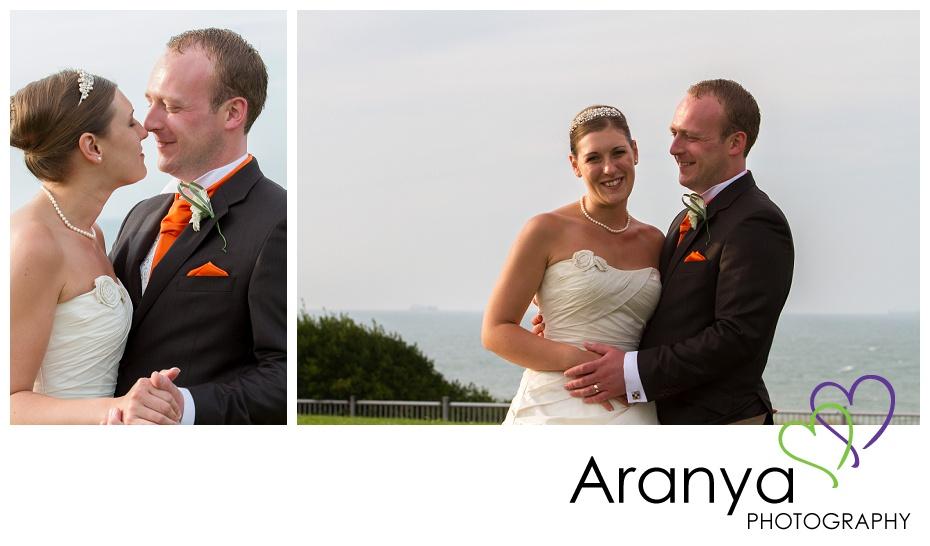 Bride and groom photos at the Walpole Bay hotel