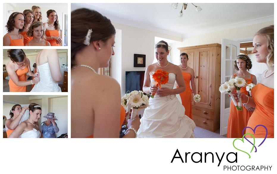 Bridal preparation at Walpole Bay hotel wedding
