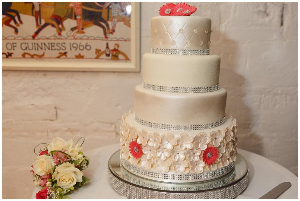 Wedding cake at Salmestone Grange Wedding