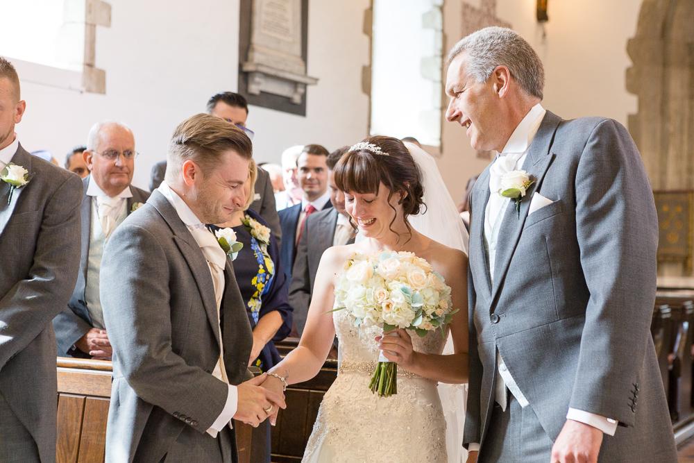 Farningham church wedding