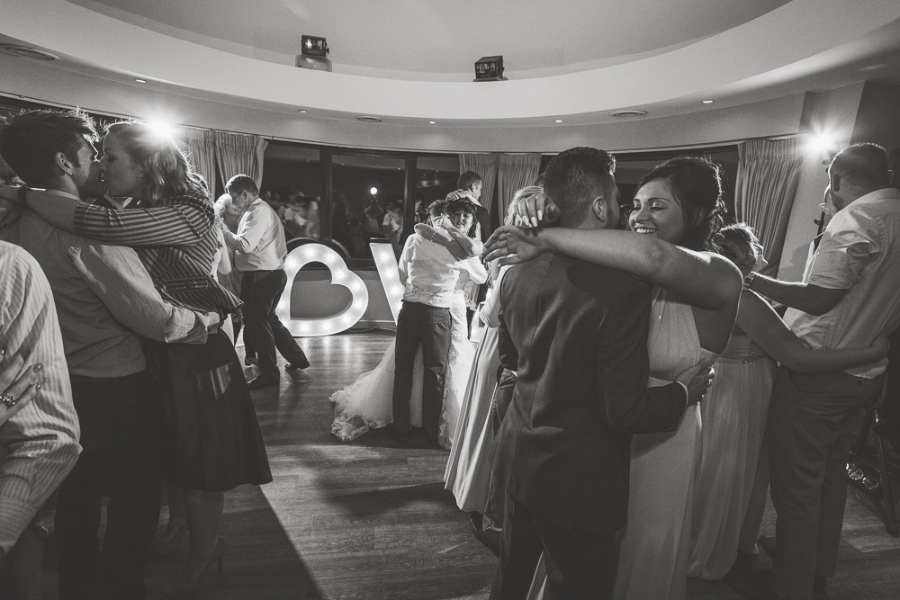 Black and white Wedding photography in Kent