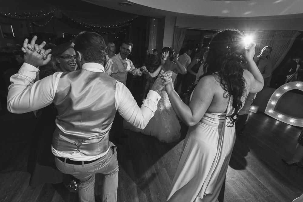 Fun wedding reception photography in Kent