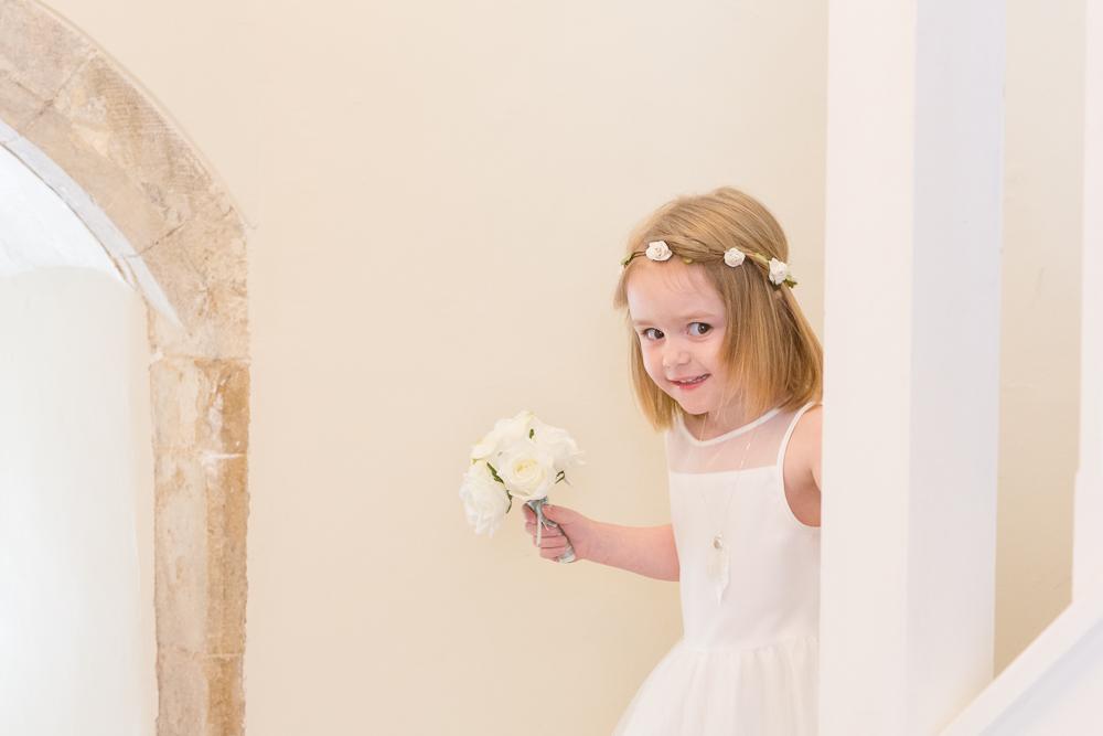 Flower girl at a Farnham Castle Wedding | Aranya Photography