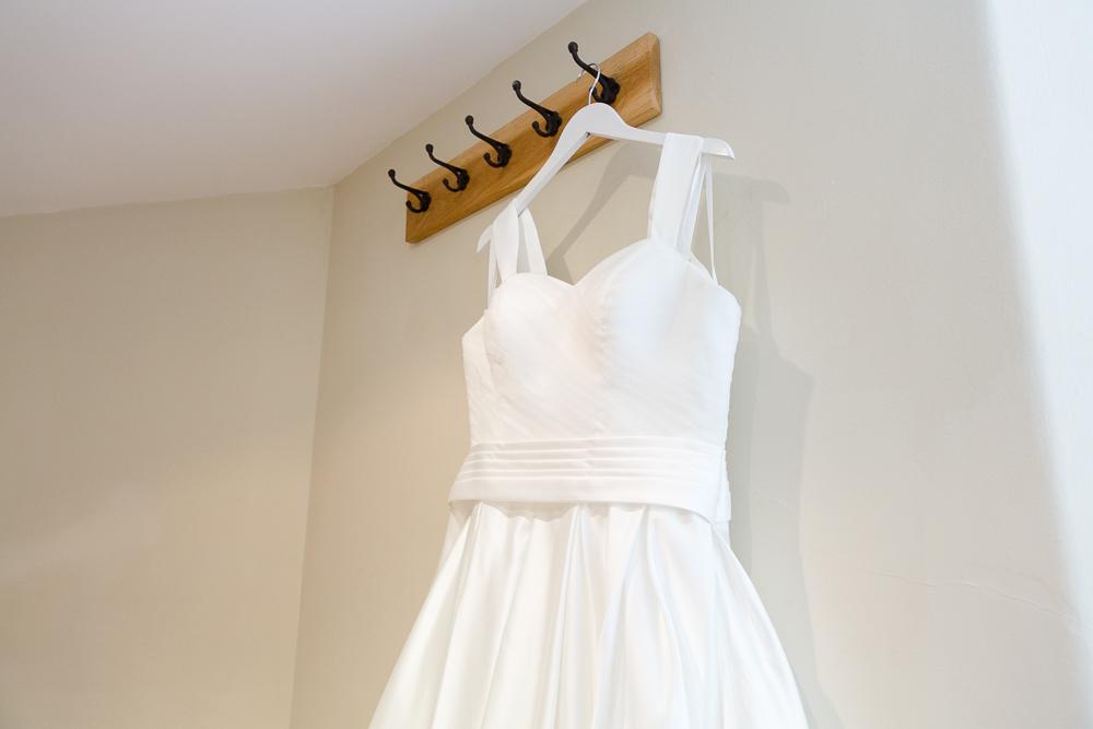 Wedding dress at Farnham Castle