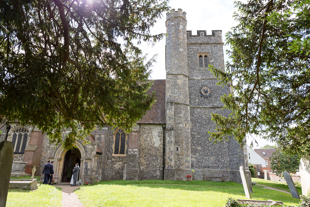 Wedding photography as St Peter and St Pauls church Farningham