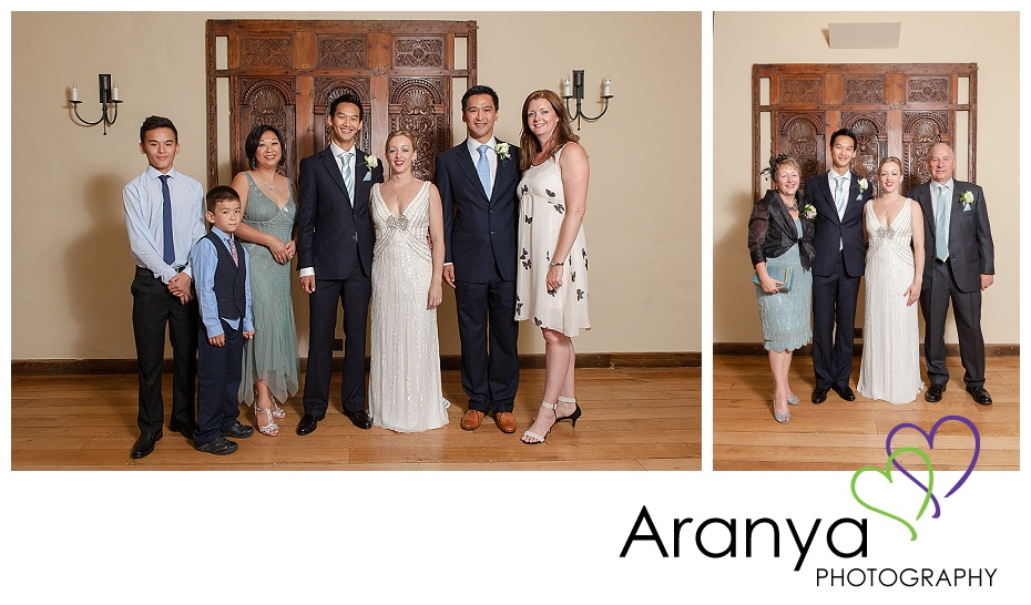 Formal family wedding portraits