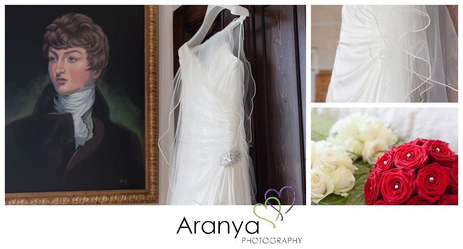 Wedding dress details at Bleak House