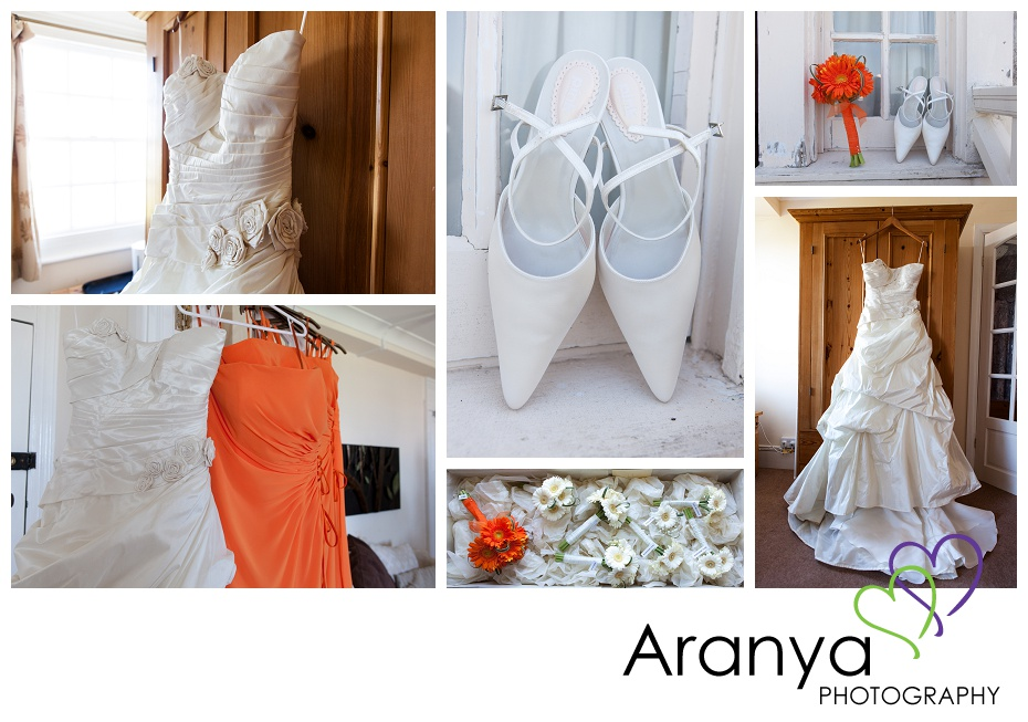 Wedding dress details photography