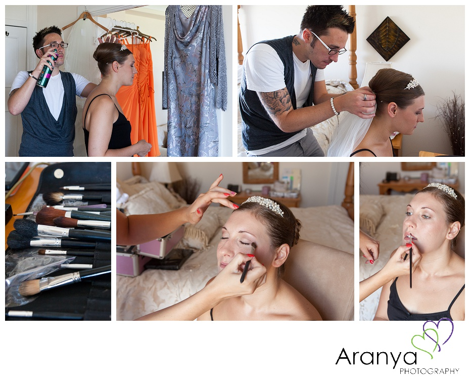 Bridal preparation at the Walpole Bay hotel