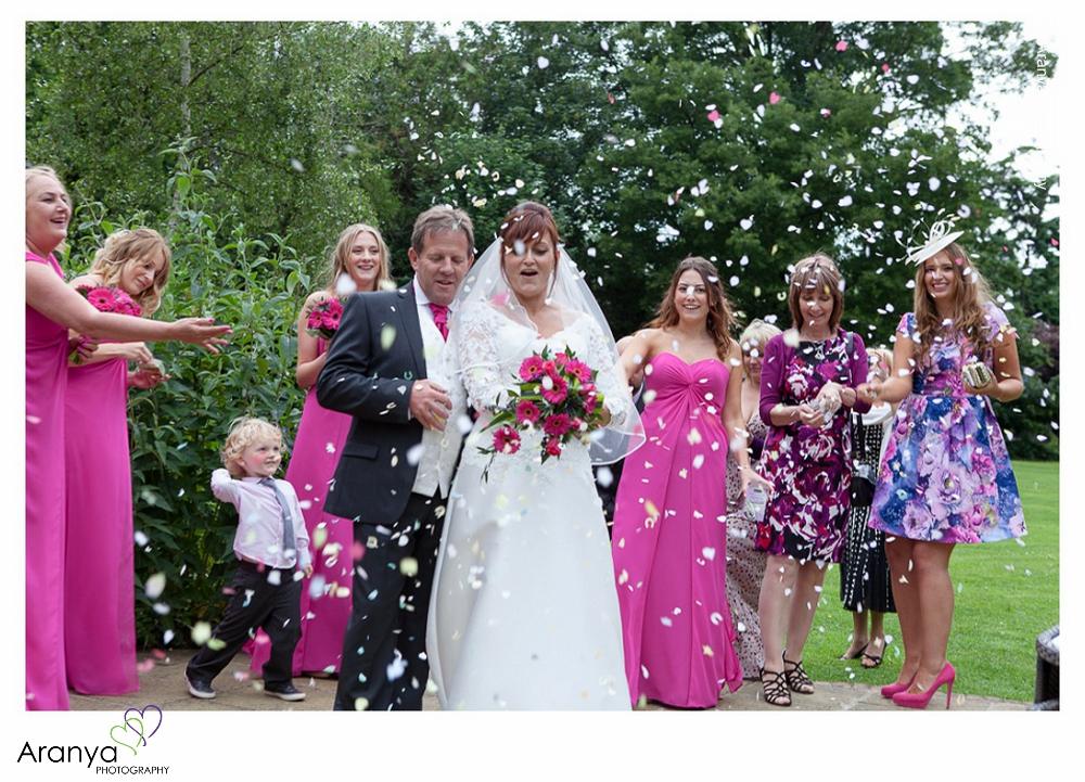 Wedding Confetti at Abbots Barton Hotel