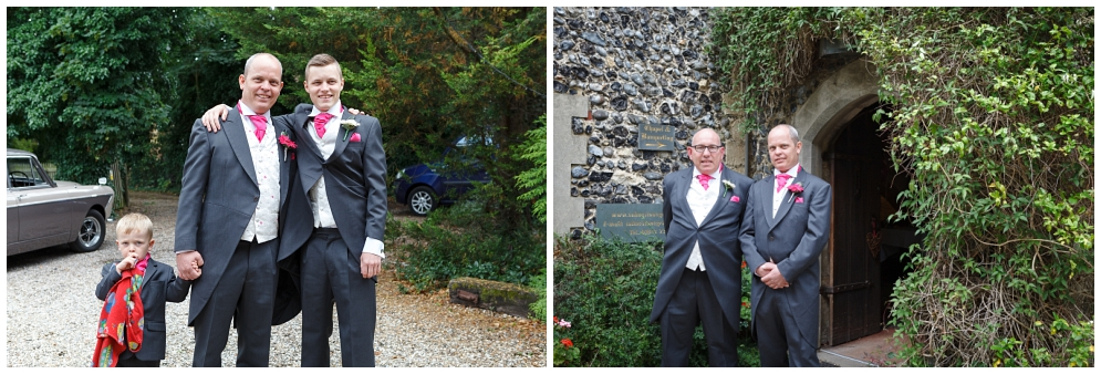 Groom at Salmestone Grange Wedding Venue