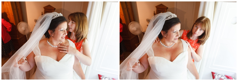 Bride getting ready at Salmestone Grange