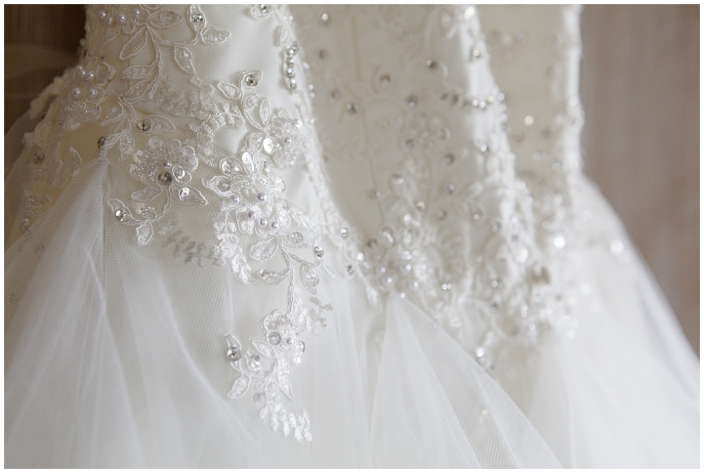 Wedding dress detail | Aranya Photography
