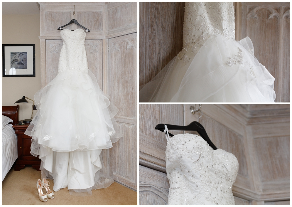 Wedding dress in the Maiden's Tower at Leeds Castle