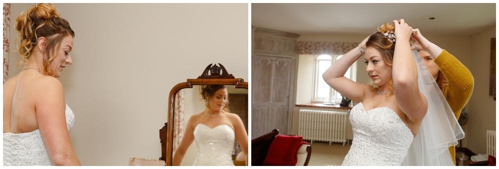 Bride with veil   Leeds Castle Wedding