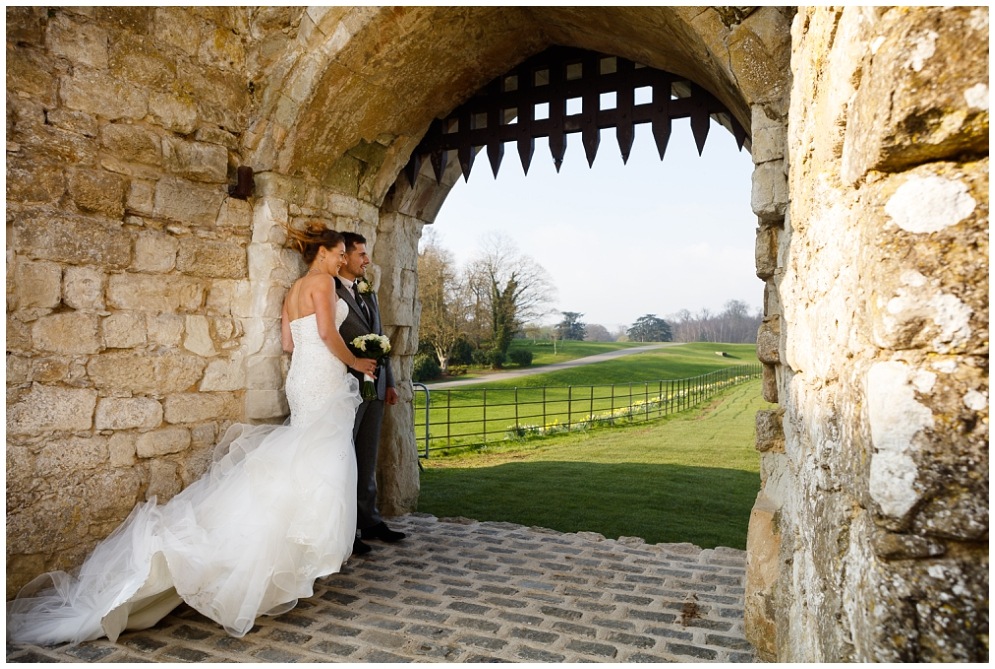 Windy wedding at Leeds Castle
