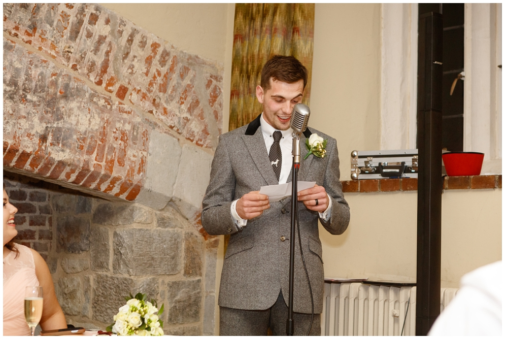 Grooms speech at Leeds Castle