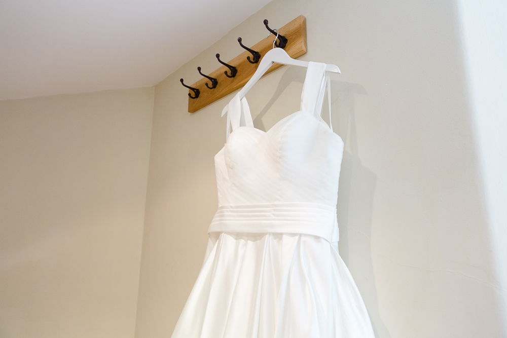 Wedding dress at Farnham Castle